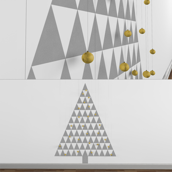 Modern Christmas Tree Decals