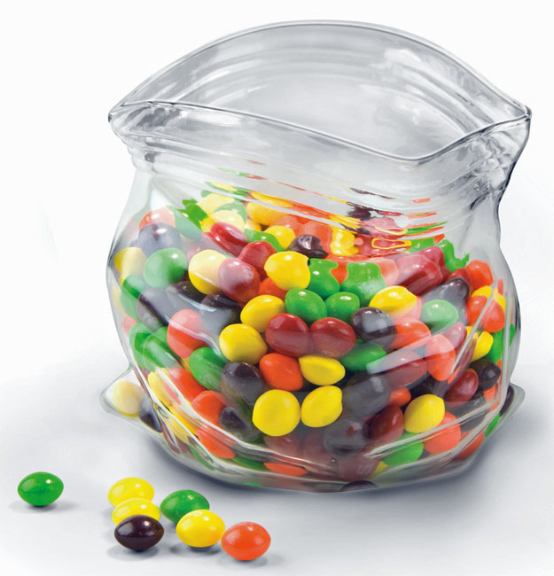Fred & Friends 'Unzipped' Glass Bag Multi-Use Bowl